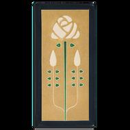 Motawi Tileworks Tile Long Stem Flower Golden