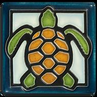 Motawi Tileworks Turtle Tile Light Blue