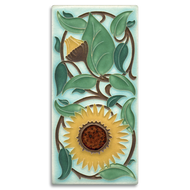Motawi Tileworks Sunflower Tile Light Blue