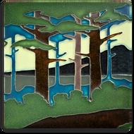 Motawi Tileworks Pine Landscape Mountain Summer Tile 8x8