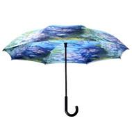 Monet, Water Lilies Reverse Umbrella