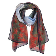 Monet, Poppy Field Scarf