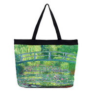 Monet Japanese Bridge Tote Bag