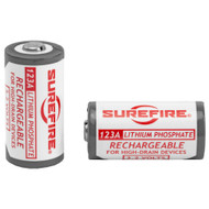 SUREFIRE Lithium Iron Phosphate Rechargeable 123A Batteries (2 Pack)