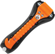 Life Hammer Original Safety Hammer with Seat Belt Cutter (Orange/Glow)