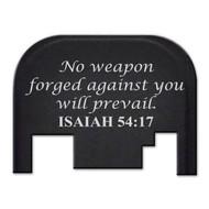 Bastion ISAIAH 54:17 GLOCK Slide Plate (Gen 1-4)
