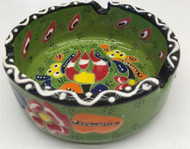 Green Pattern Turkish ceramic Ashtray