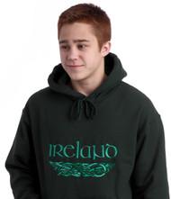 Irish Dragons Hooded Sweatshirt Forest   Irish Rose Gifts