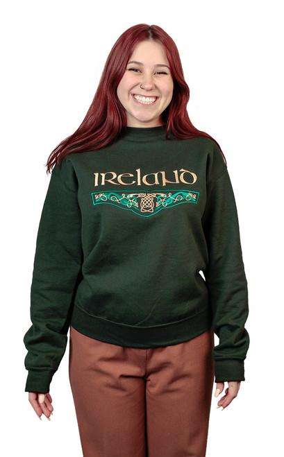Irish Bordered Knot Sweatshirt dragons | Irish Rose Gifts