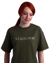 Irish Sláinte Tee Shirt in Summer Green