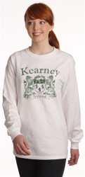Vintage Coat of Arms Long Sleeve Tee White | Irish Rose Gifts