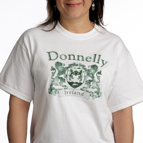 Vintage Coat of Arms Tee Shirt White | Irish Rose Gifts