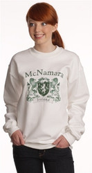 Vintage Coat of Arms Sweatshirt on White | Irish Rose Gifts