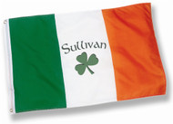 Irish Personalized Shamrock Name Flag - 3x5 | Irish Rose Gifts