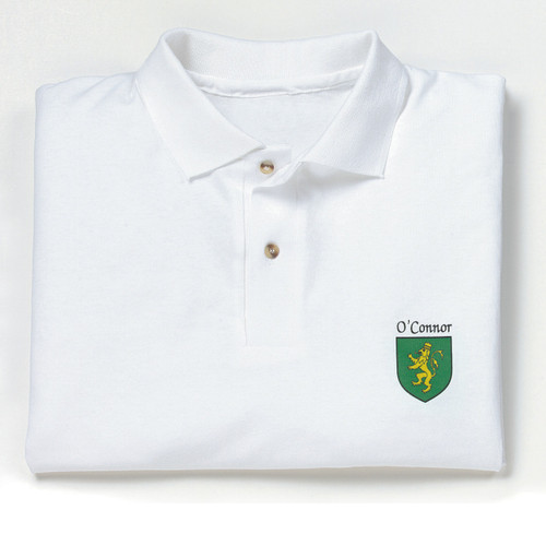 Irish Coat of Arms Polo Sport Shirt | Irish Rose Gifts