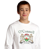 Irish Coat of Arms Long Sleeve Tee Shirt | Irish Rose Gifts