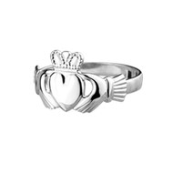 Claddagh Ring Ladies Small Standard - Sterling Silver by Solvar