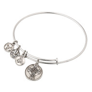 Celtic Cross Sliver tone bracelet/bangle - Allergy safe and by Solvar Ireland