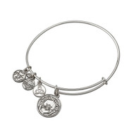 Claddagh Bracelet/bangle silver tone - Allergy safe and by Solvar Ireland