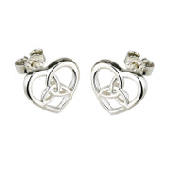 Heart & Trinity Knot Earrings - Sterling Silver by Solvar