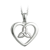 Heart & Trinity Knot Necklace - Sterling Silver by Solvar Jewelry