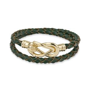 Claddagh Leather Wrap Bracelet - Gold Plated Solvar Jewelry Made in Ireland (S5876)