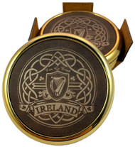 Ireland Harp & Celtic Knot Laser Engraved Coasters (set of 4)