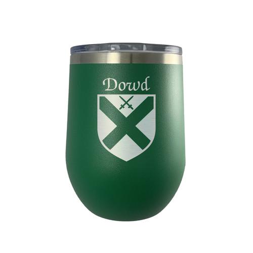 Irish Coat of Arms Stemless Wine Tumbler - Green