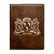 Irish Coat of Arms Leather Passport Case