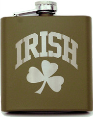 Army Green Shamrock Flask | Irish Rose Gifts