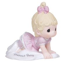 "Precious Moments ""Precious Baby"" Blonde Growing In Grace Series Figurine"