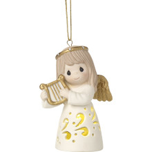 "Precious Moments ""Make Sweet Melody"" Lighted Bisque Porcelain Ornament"