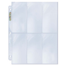 """Ultra Pro 6-Pocket Platinum Page with 2-1/2"""" X 5-1/4"""" Pockets"""