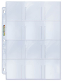 """Ultra Pro 12-Pocket Platinum Page with 2-1/4"""" X 2-1/2"""" Pockets"""