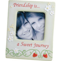"Precious Moments ""Friendship is a Sweet Journey"" 4x4 Friendship Frame 2 LEFT"