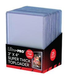 Ultra Pro Stor Safe 3x4 75pt Super Thick Card Top Loaders 25 Pack