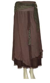 pretty angel Coffee Buckle Skirt