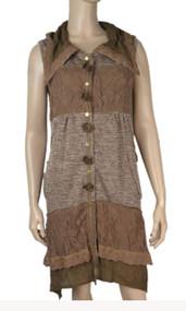 pretty angel Brown button up Vest