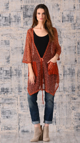 pretty angel rust cardigan with Pocket