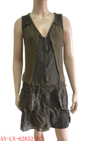 pretty angel ecru Button up Vest with Pocket