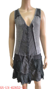pretty angel gray Button up Vest with Pocket