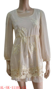 pretty angel Caramel Textured Silk Blend Tunic
