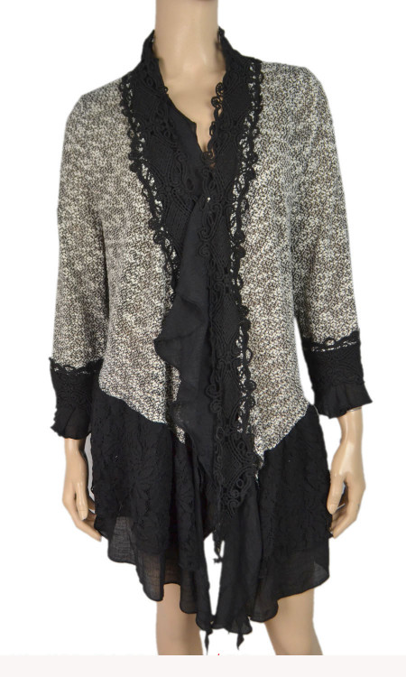 pretty angel Black & White Two Tone cardigan