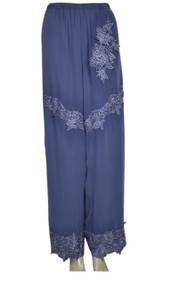 pretty angel Blue Floral Silk Blend Pants