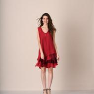 pretty angel Burgundy & Dark Red Boho Dress Set