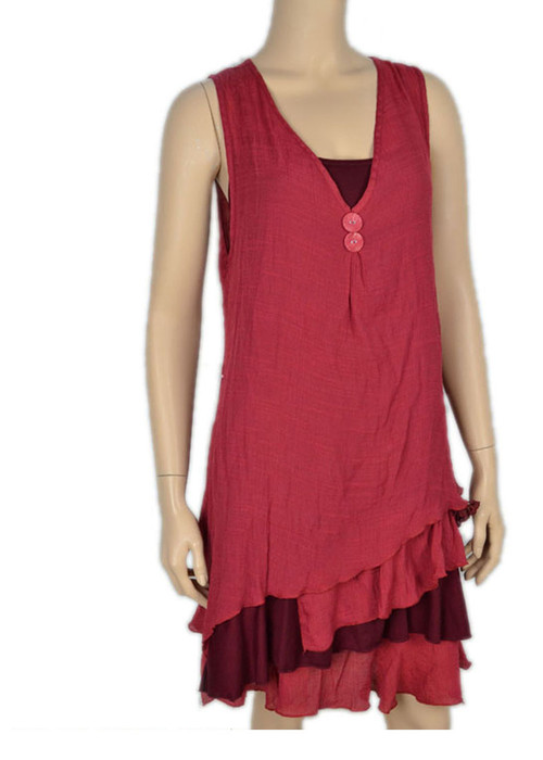 pretty angel Burgundy & Dark Red Boho Dress Set