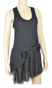 pretty angel Black Embellished Sleeveless Top