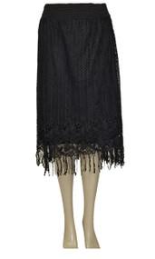 pretty angel Black Lace fringe Skirt