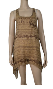 pretty angel Brown & Coffee Sheer Silk Blend Tank