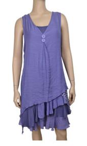 pretty angel Purple & Light Purple Boho Dress Set